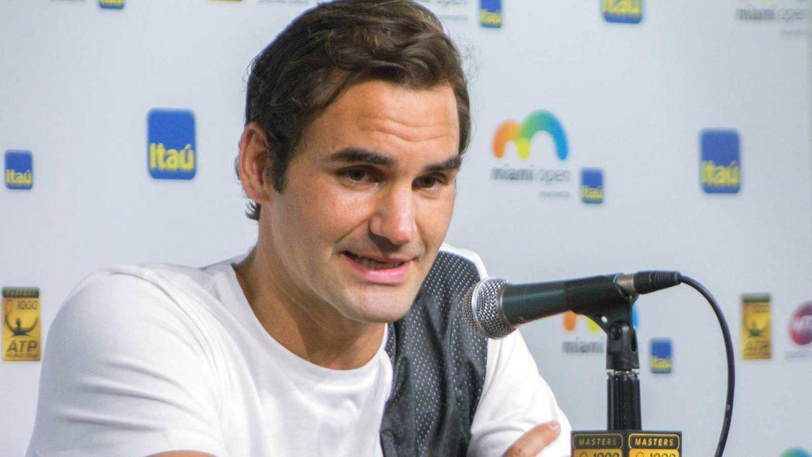 Rueda de prensa del tenista suizo Roger Federer