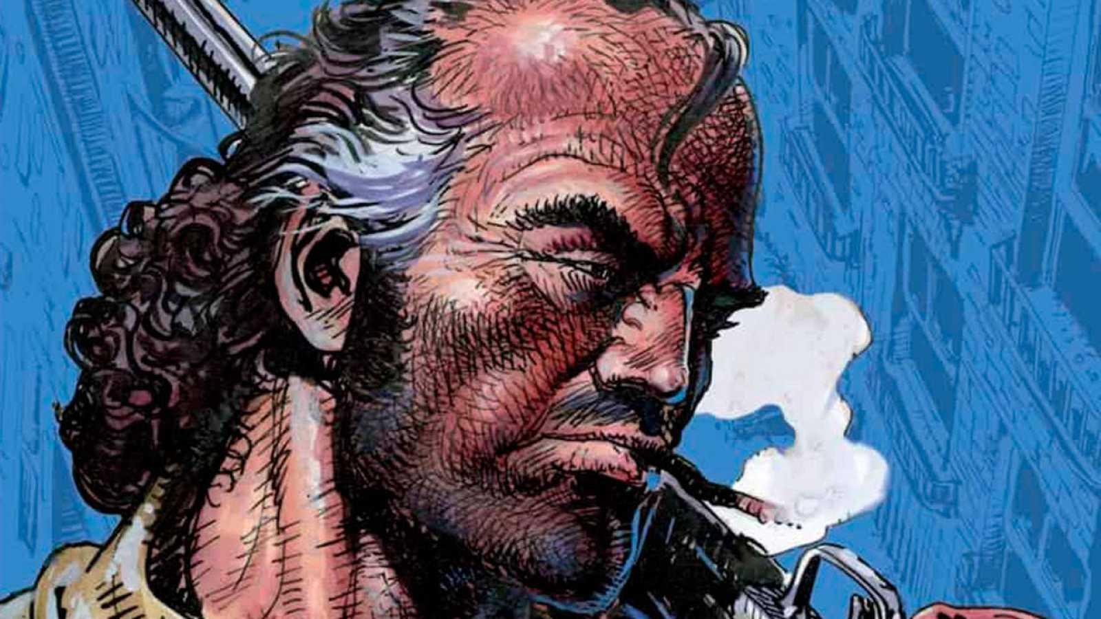 Fragmento de la portada de 'Hombre'