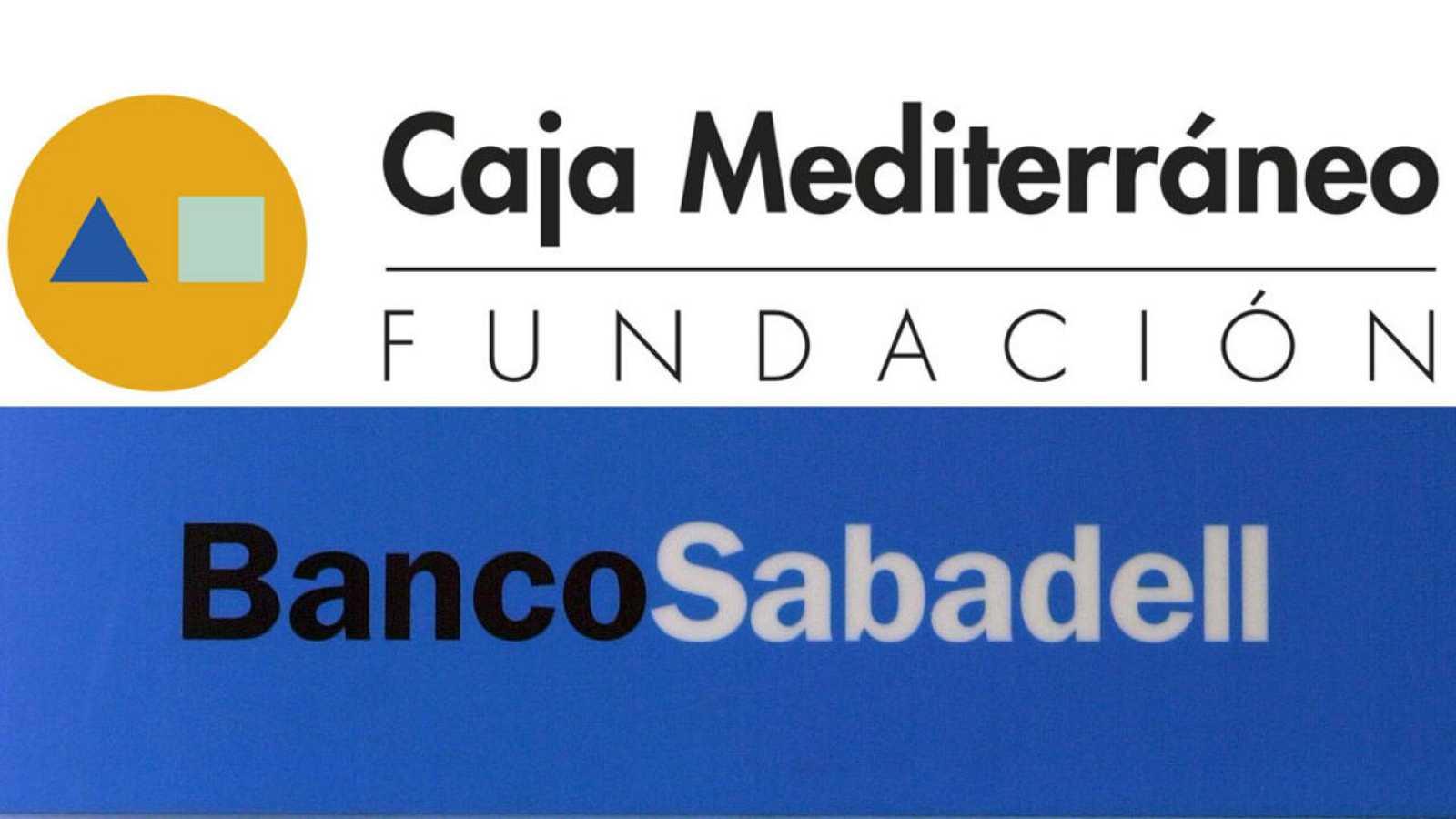 Logotipos de la Fundación CAM y el Banco Sabadell