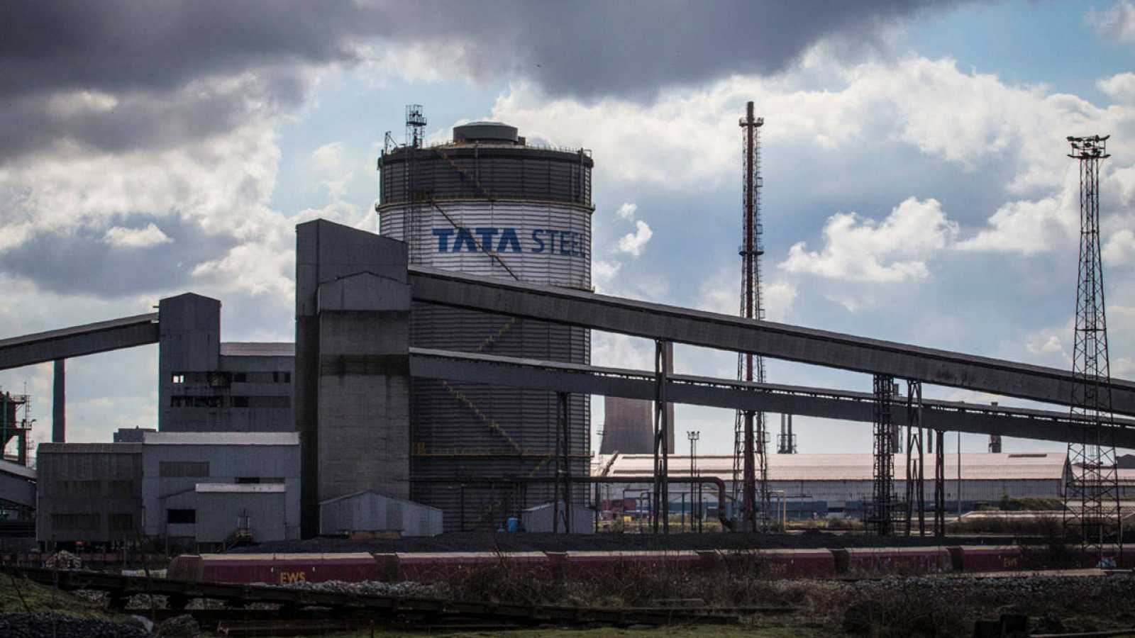 Planta de Tata Steel en Scunthorpe, noreste de Inglaterra