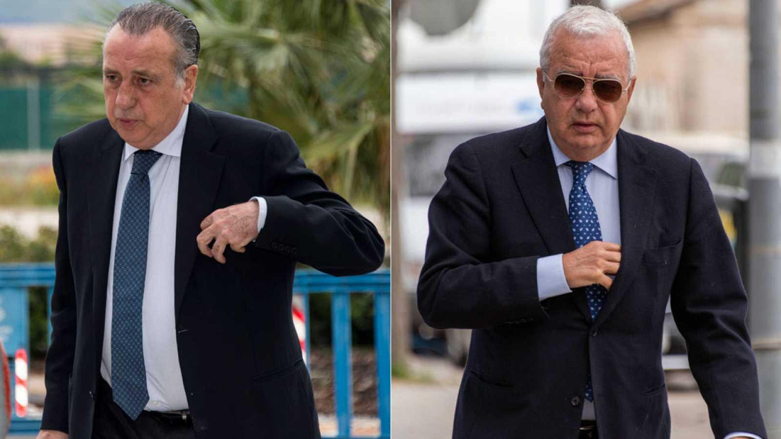 El presidente del Villarreal, Fernando Roig, y el expresidente del Valencia CF y presidente del Grupo Roig, Francisco Roig.