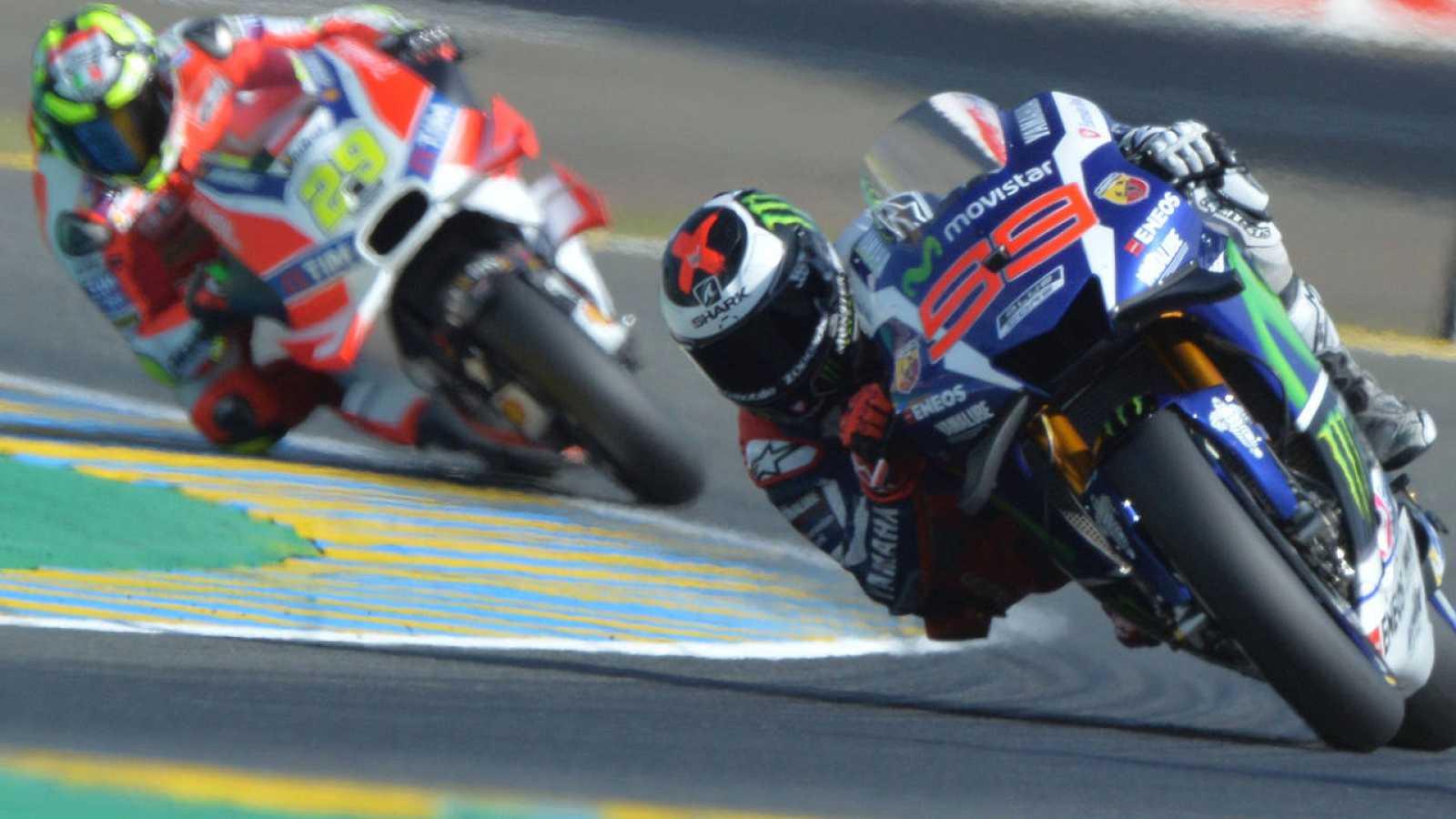 Jorge Lorenzo, en un momento de la sesión de clasificación de Le Mans