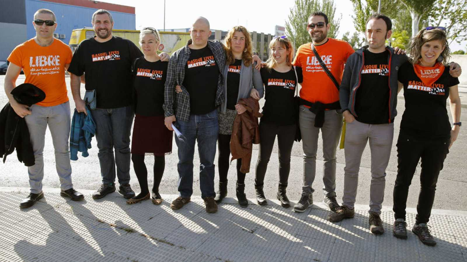 Los nueve acusados de integrar la dirección de la organización Ekin