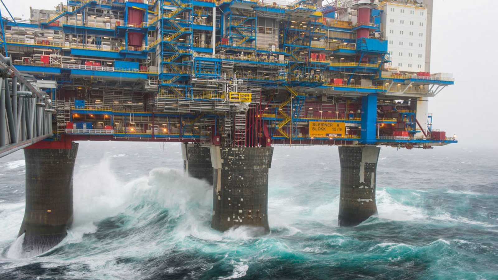 Una plataforma petrolera Sleipner A