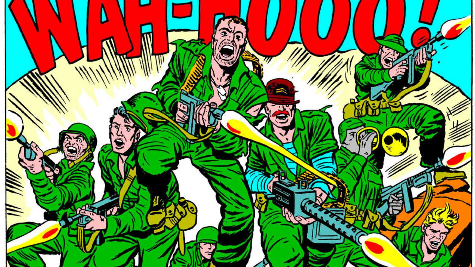 Viñeta de 'Sargento Furia: ¡Siete contra los nazis!'
