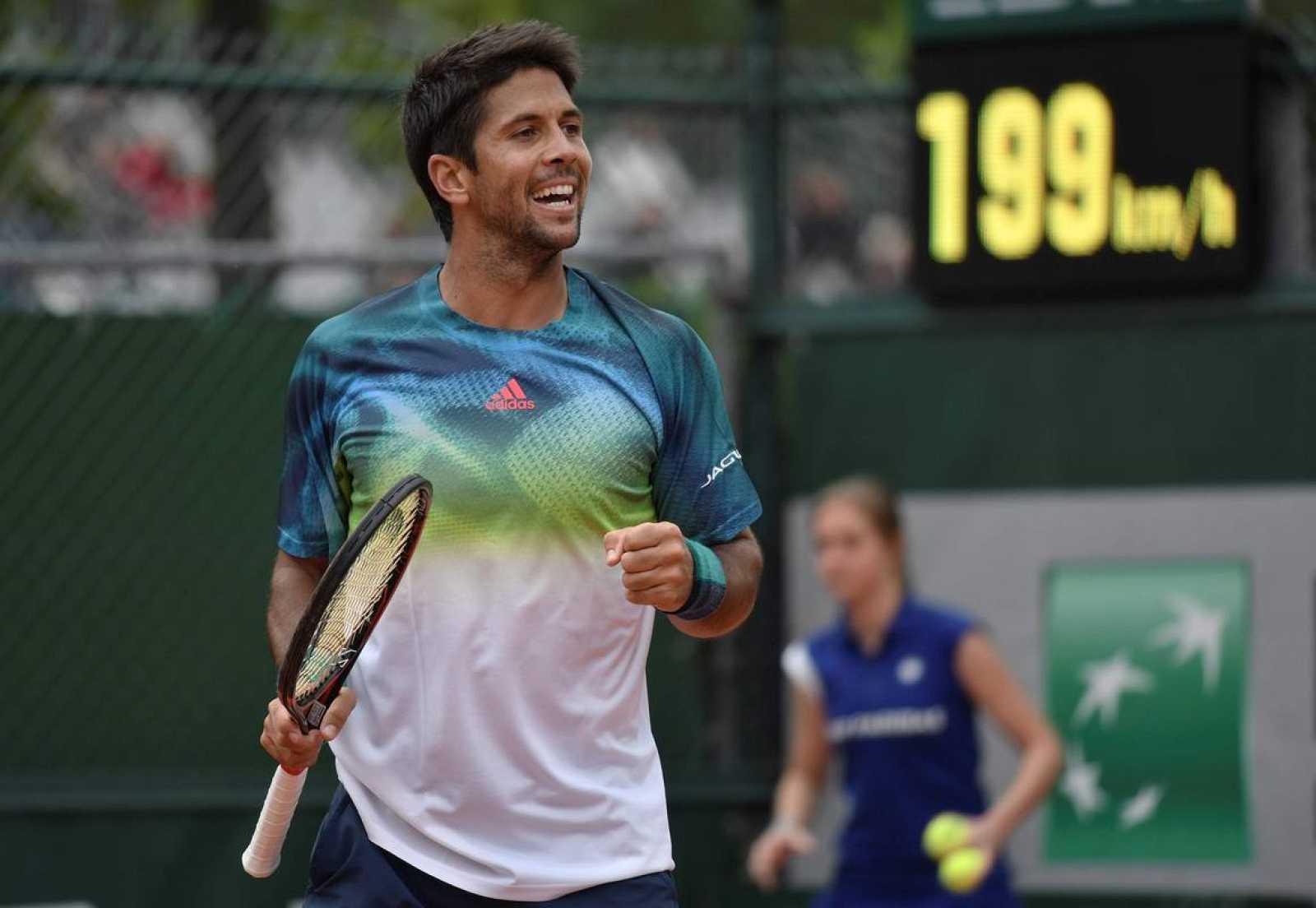 Imagen del tenista español Fernando Verdasco en Roland Garros 2016.