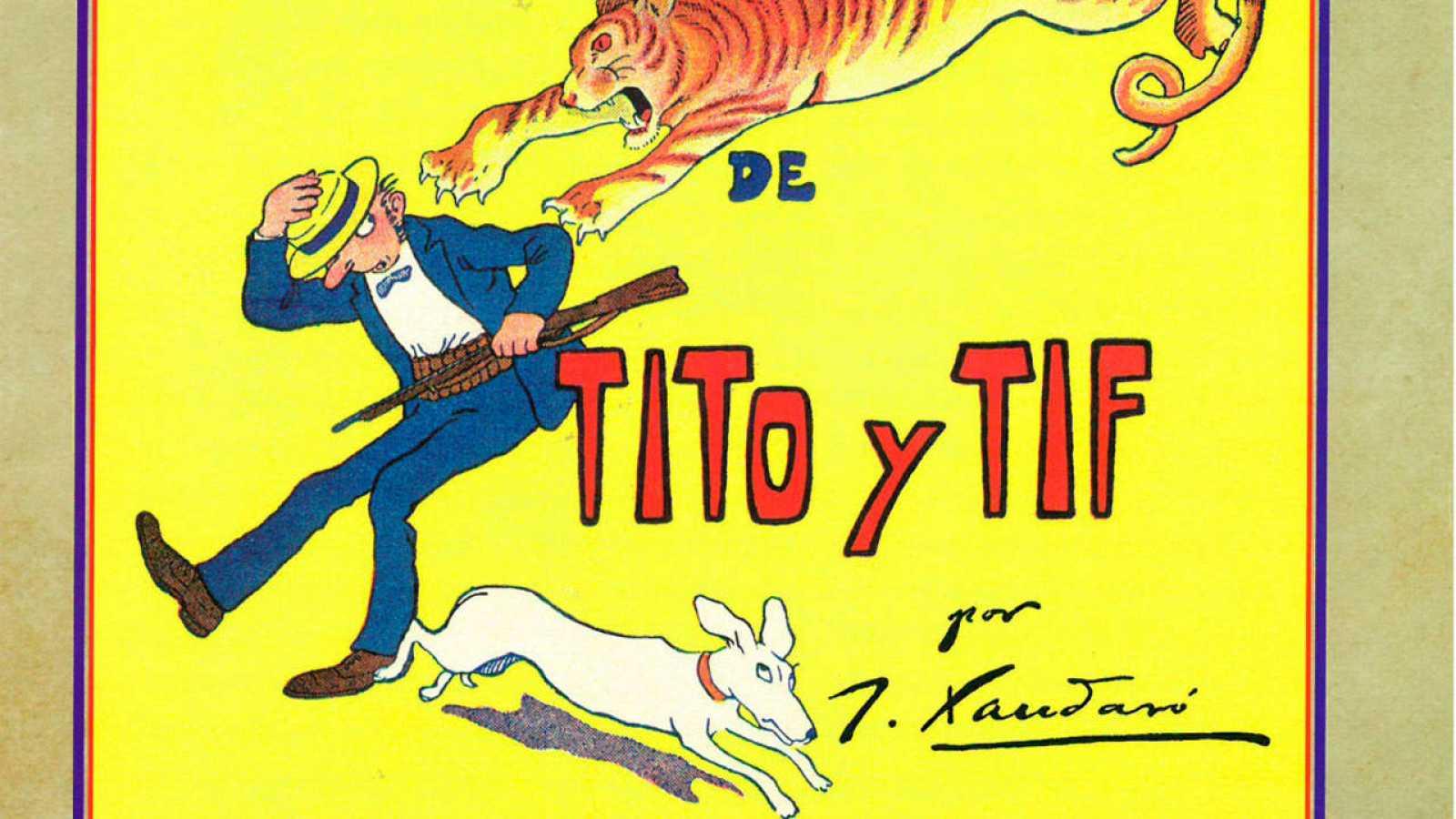 Fragmento de la portada de 'Fantásticas aventuras de Tito y Tif'