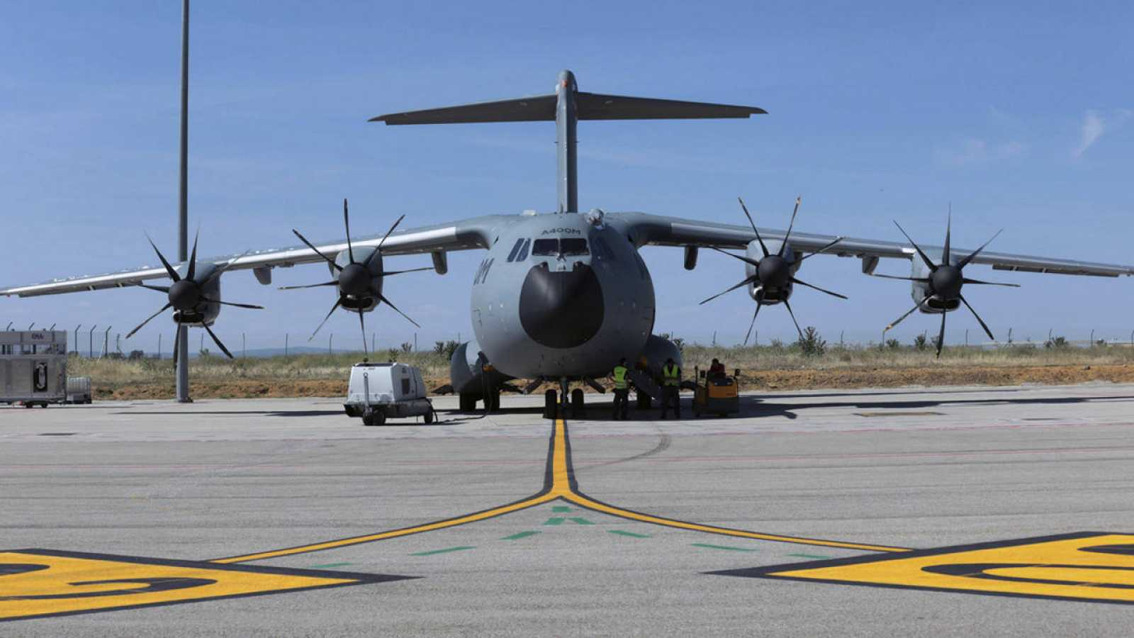 El avión militar de transporte A400M en una fotografía facilitada por Airbus