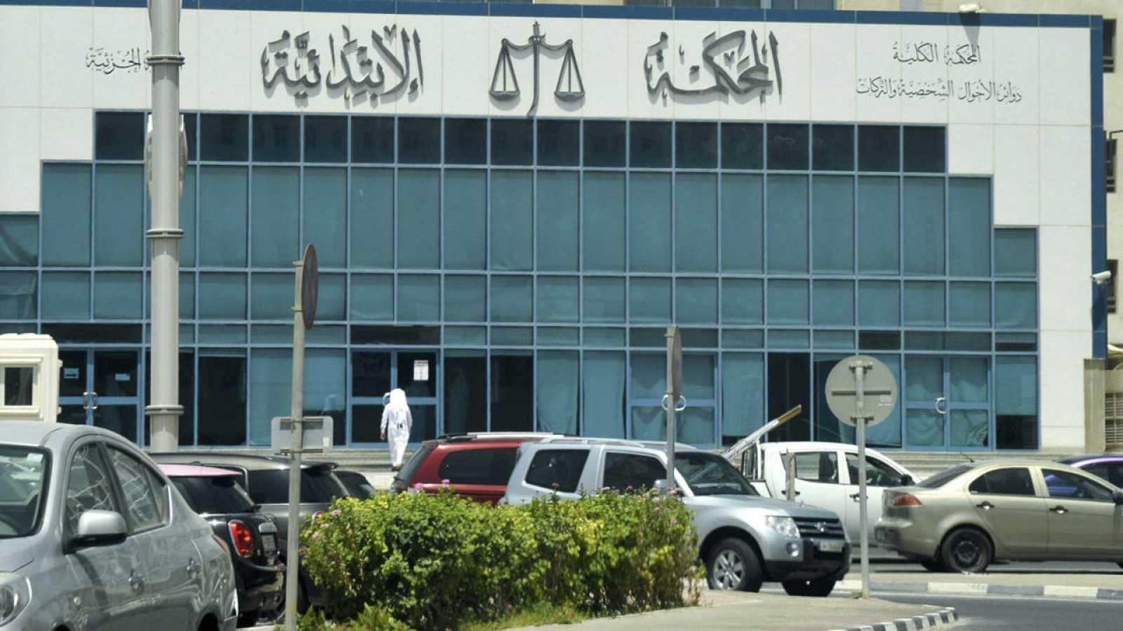 Vista del juzgado donde se celebra el juicio de la joven holandesa detenida tras denunciar una violación en Catar