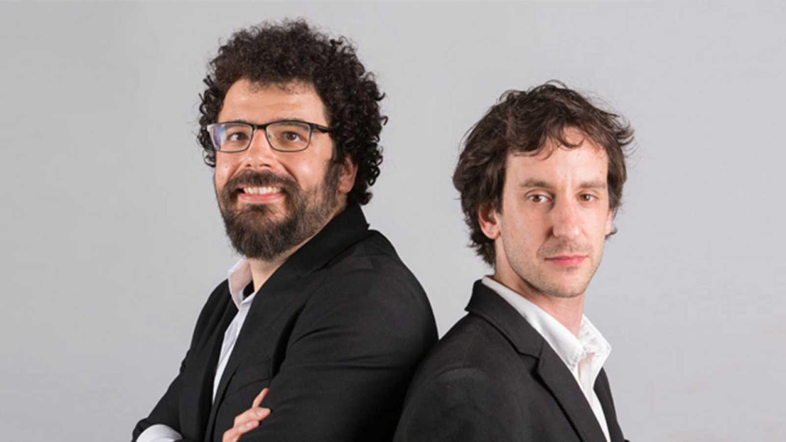 Los fundadores de Muon Systems Pablo Martínez y Carlos Díez.