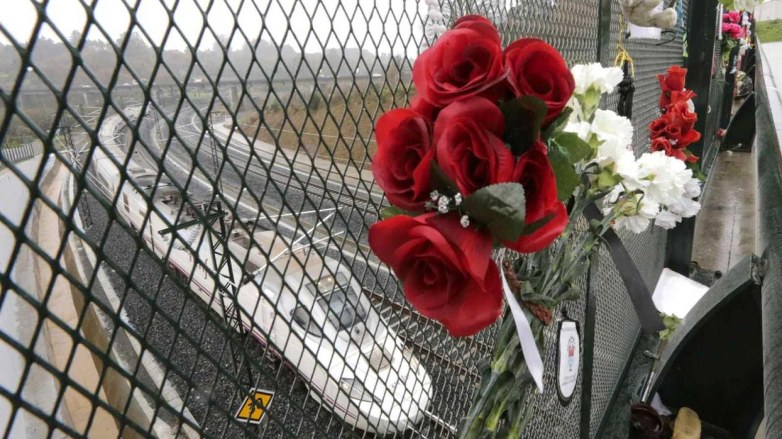 Imagen de archivo del homenaje a las víctimas del tren de Santiago