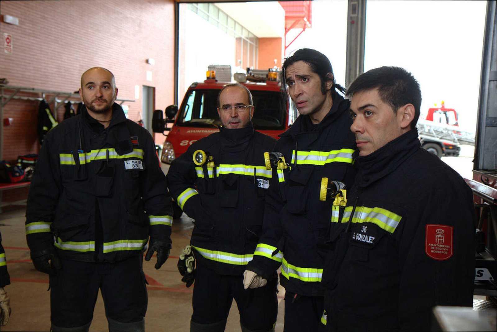 Mario Vaquerizo, de bombero por un día