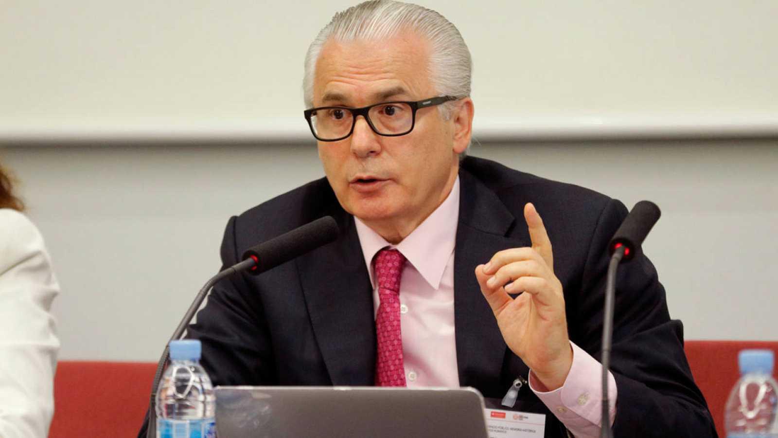 El exjuez de la Audiencia Nacional Baltasar Garzón en una conferencia sobre memoria histórica.