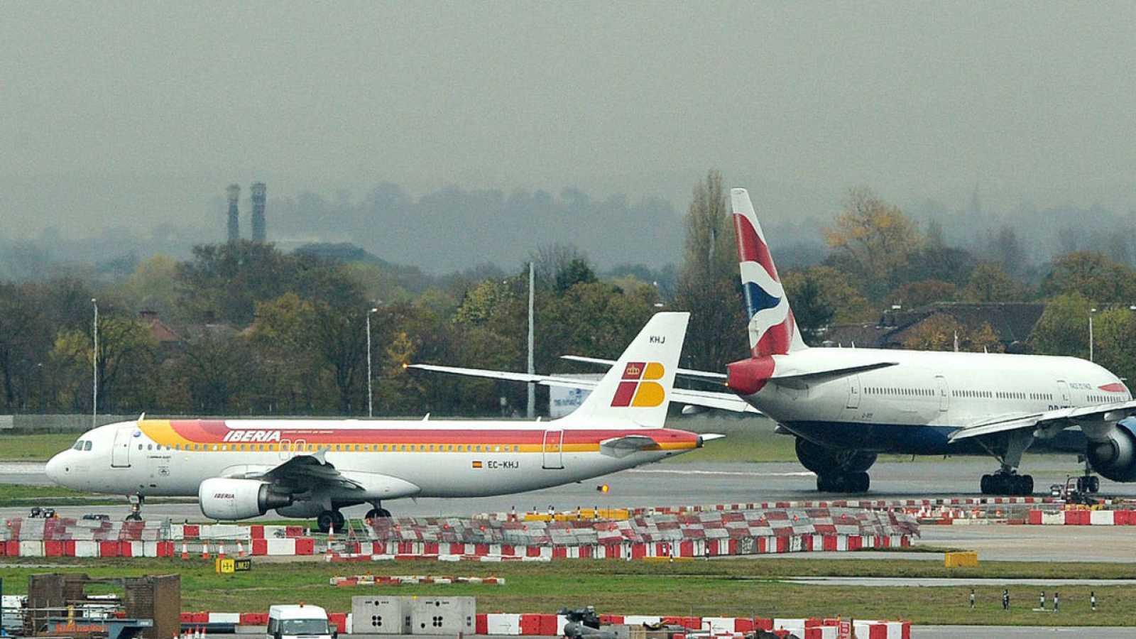 Un avión de Iberia se cruza con otro de BA en Heathrow