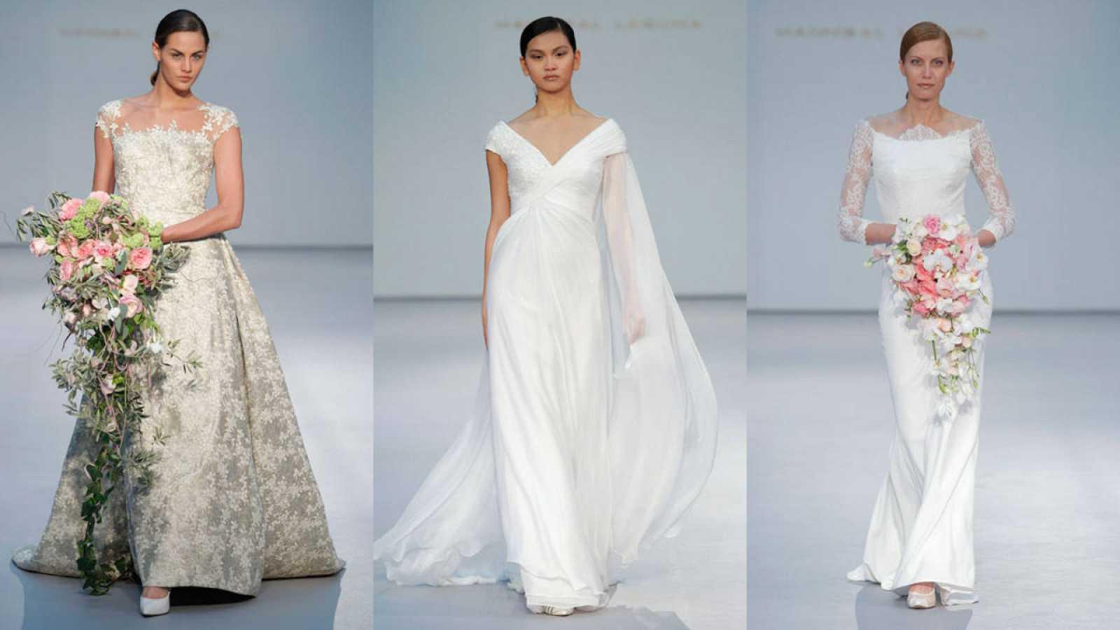 Rocio Carrasco luce dos vestidos de Hannibal Laguna en su boda