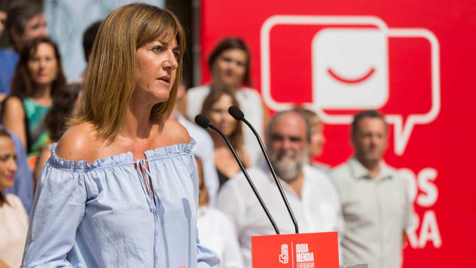 La secretaria general del PSE y candidata a lehendakari, Idoia Mendia.