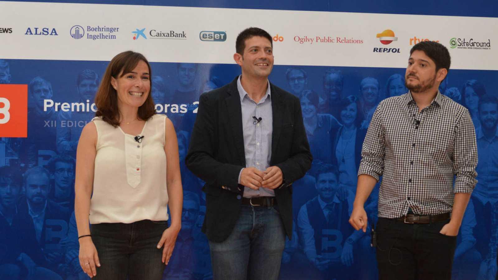 Nuria Padrós, Raúl Ordóñez y Alberto Fernández durante la presentación de Bitácoras 2016.