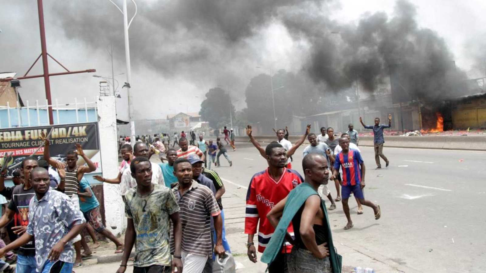 Imagen de las protestas celebradas en Kinshasa (República Democrática del Congo)
