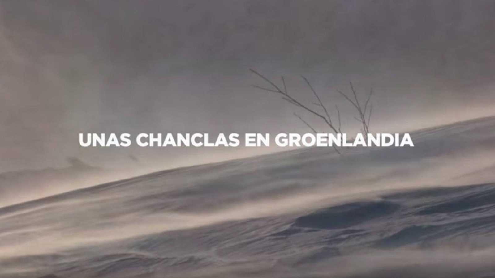 """Imagen del spot electoral del PP vasco con el título """"Chanclas en Groenlandia"""""""