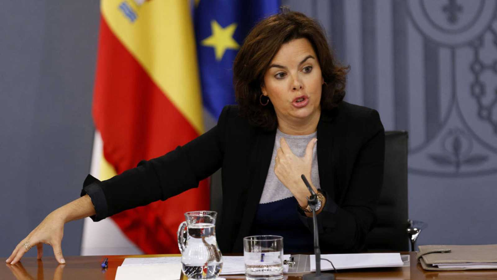 La vicepresidenta del Gobierno en funciones, Soraya Sáenz de Santamaría