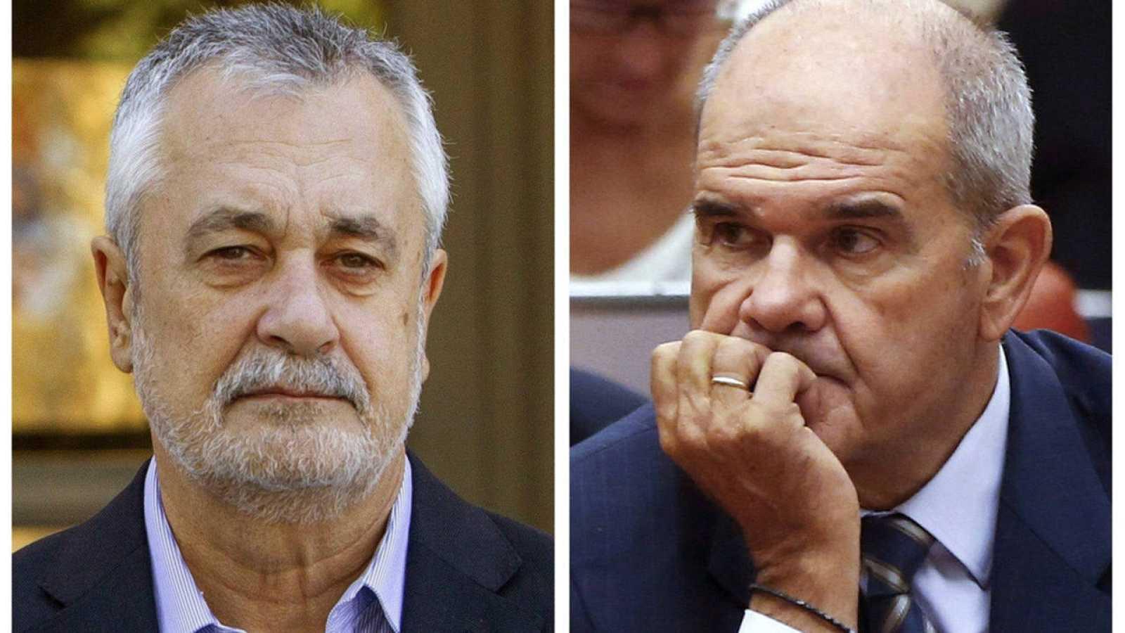 Imagen de archivo de los expresidentes andaluces, Manuel Chaves y José Antonio Griñán