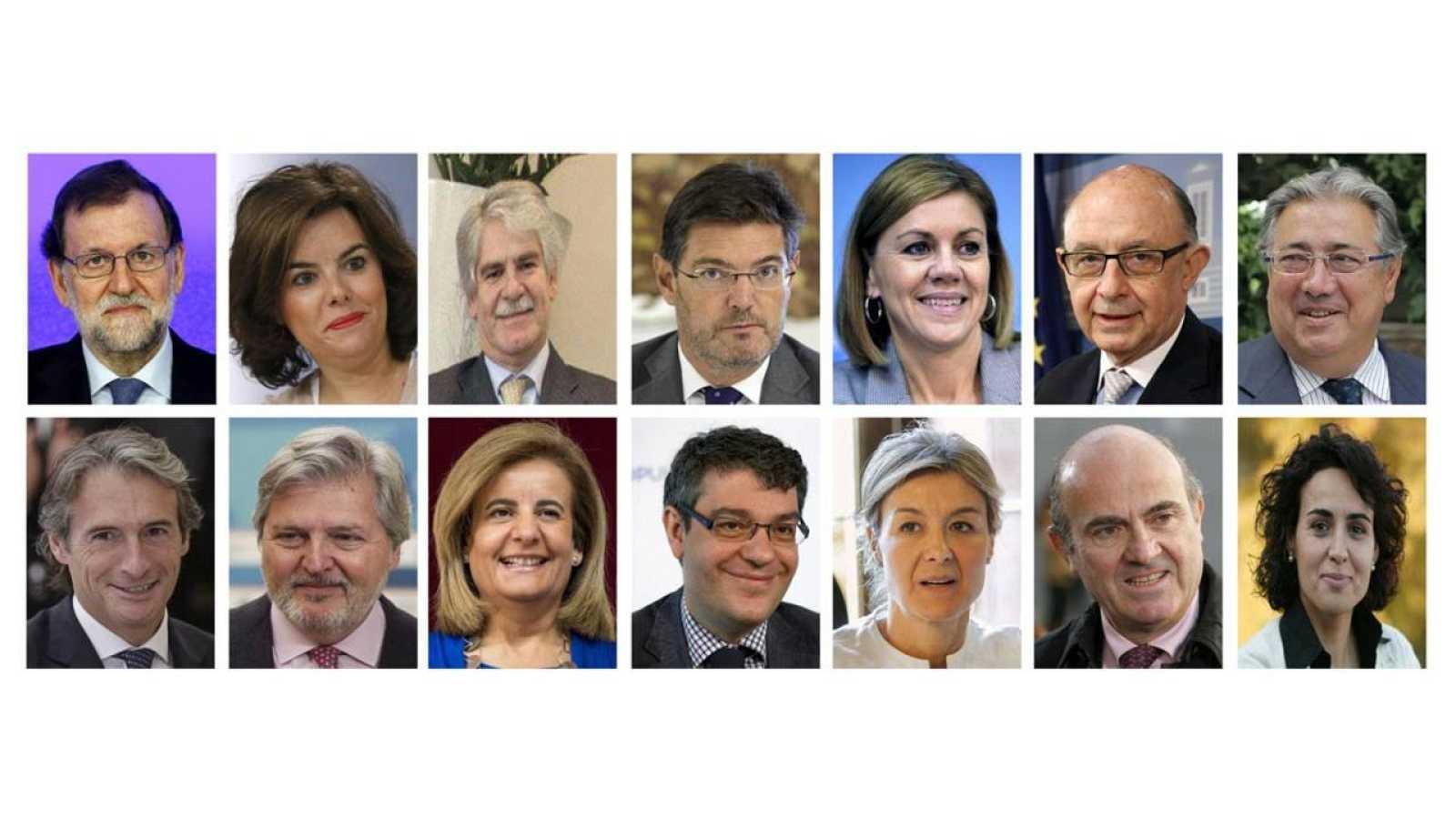 El nuevo equipo de Gobierno de Mariano Rajoy.