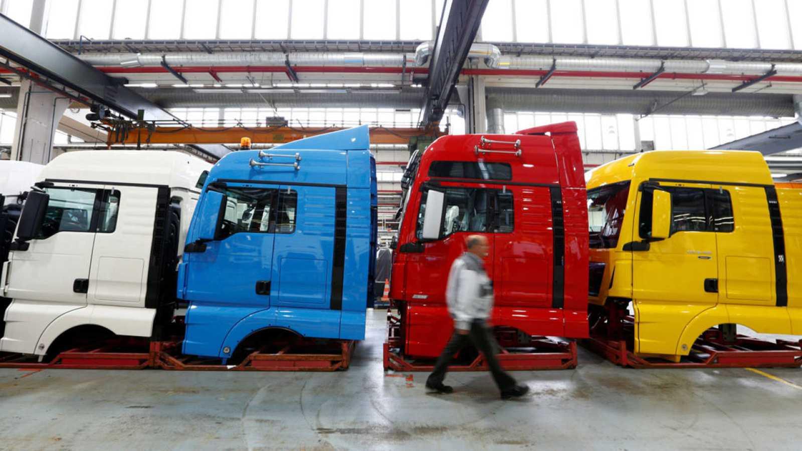 Una fábrica de camiones en Múnich