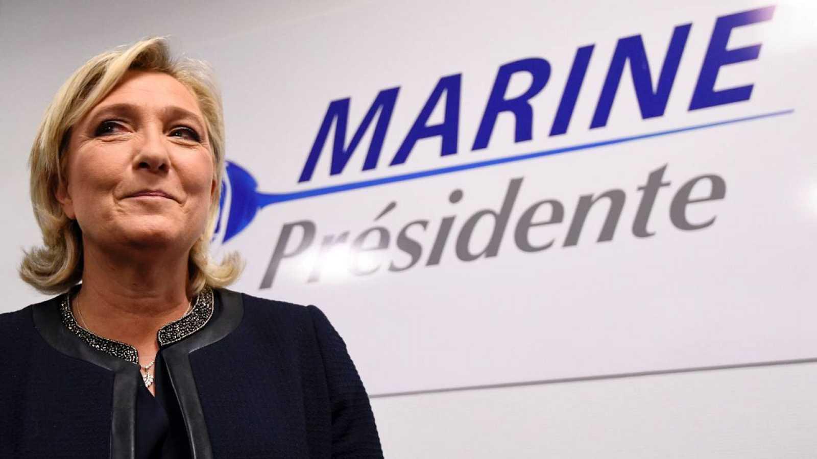 Marine Le Pen, presidenta del ultraderechista partido francés Frente Nacional y candidata presidencial
