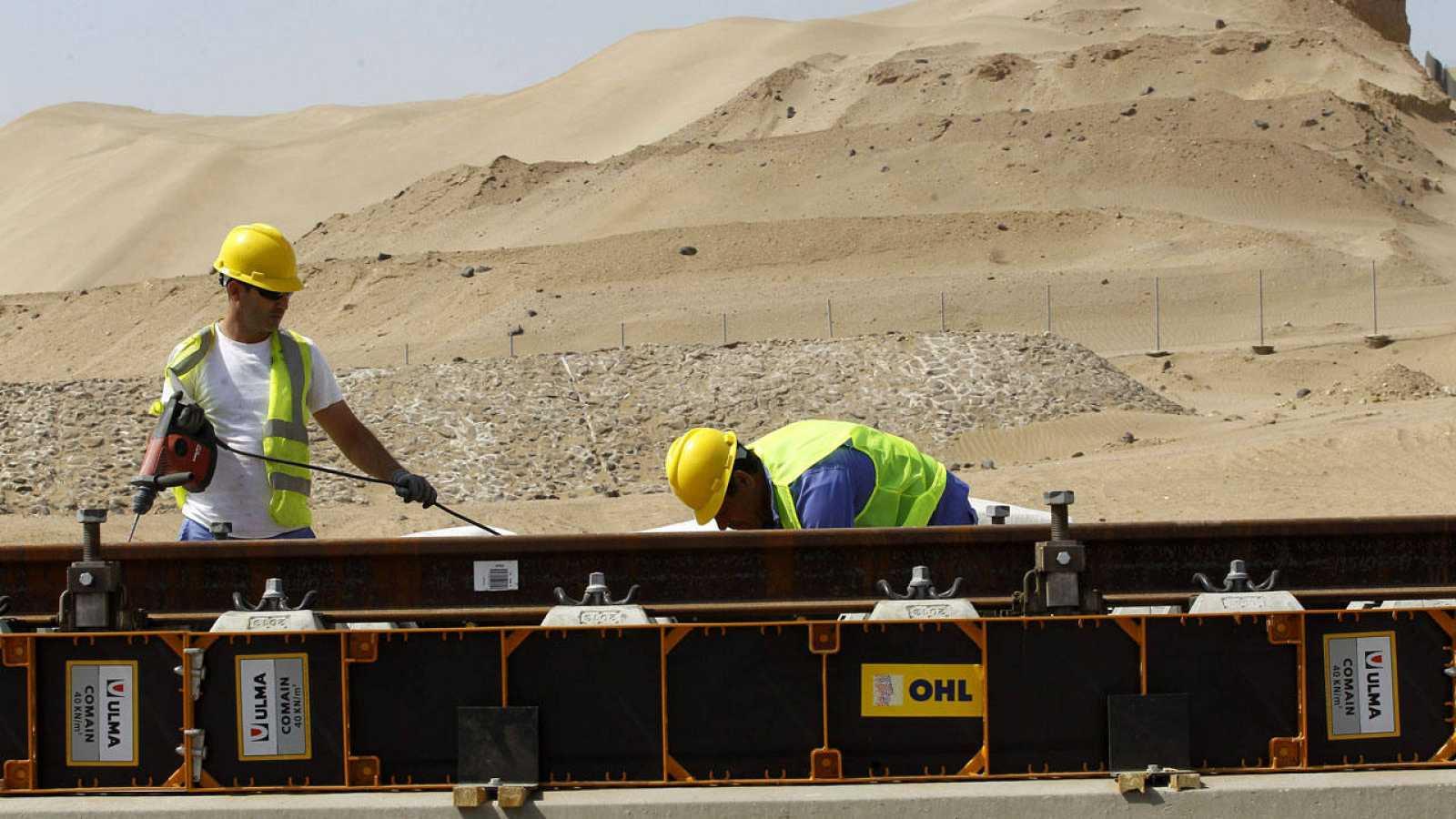 Imagen de archivo de las obras del proyecto del tren de alta velocidad a La Meca