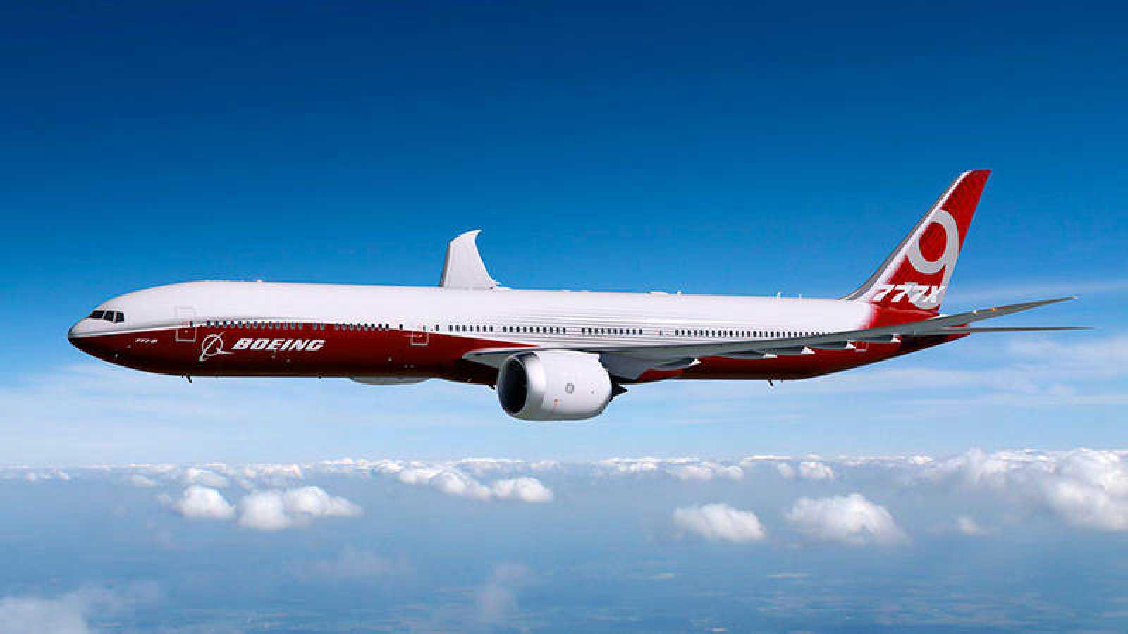 Imagen de Boeing sobre el nuevo modelo 777X que está construyendo