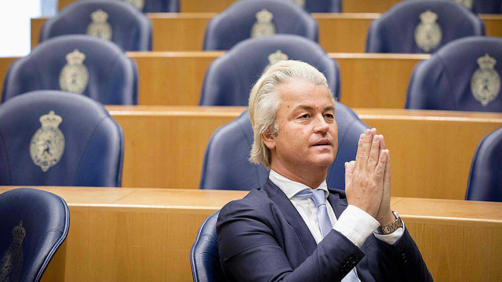 Imagen de archivo de Geert Wilders, líder del Partido para la Libertad, en el Senado en La Haya, Holanda.