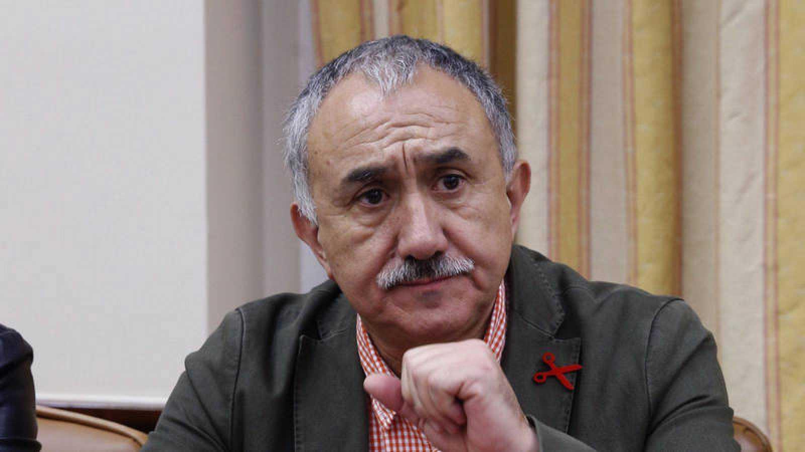 El secretario general de UGT, José Álvarez Suárez, en el Congreso