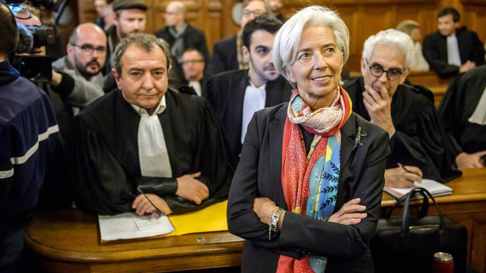 Christine Lagarde, en la Corte de Justicia en París.