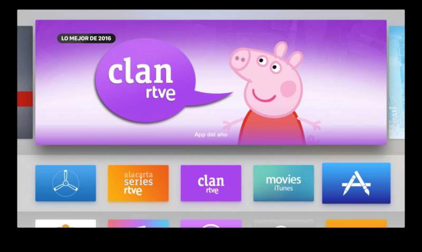 La app de Clan se encuentra dentro de las cinco más instaladas de Apple TV