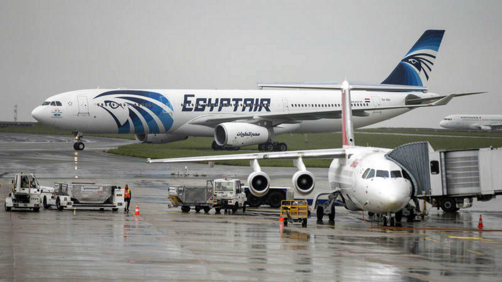 Un Airbus A330 de la aerolínea Egyptair.