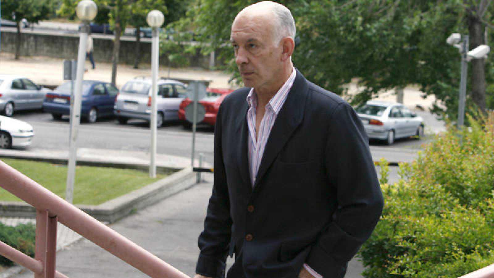 El expolicía José Amedo llegando a la Audiencia Provincial de Madrid, en una imagen de archivo