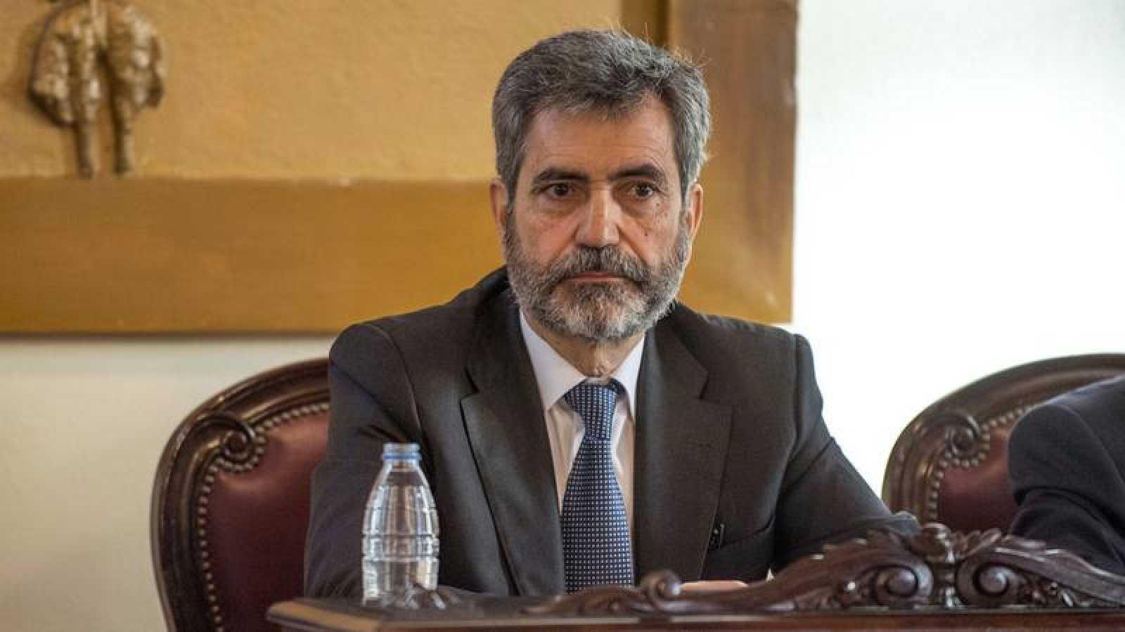 El presidente del Tribunal Supremo (TS) y del Consejo General del Poder Judicial (CGPJ), Carlos Lesmes