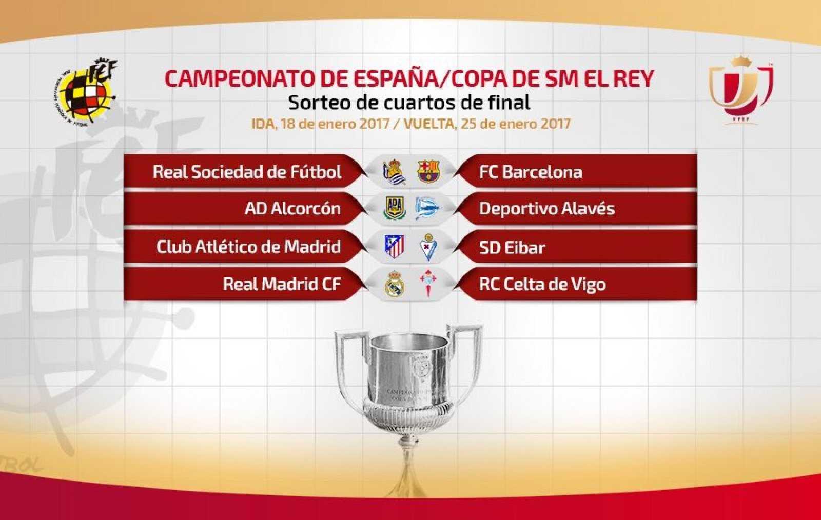 Copa del Rey | Real Sociedad-Barça y Madrid-Celta, duelos ...