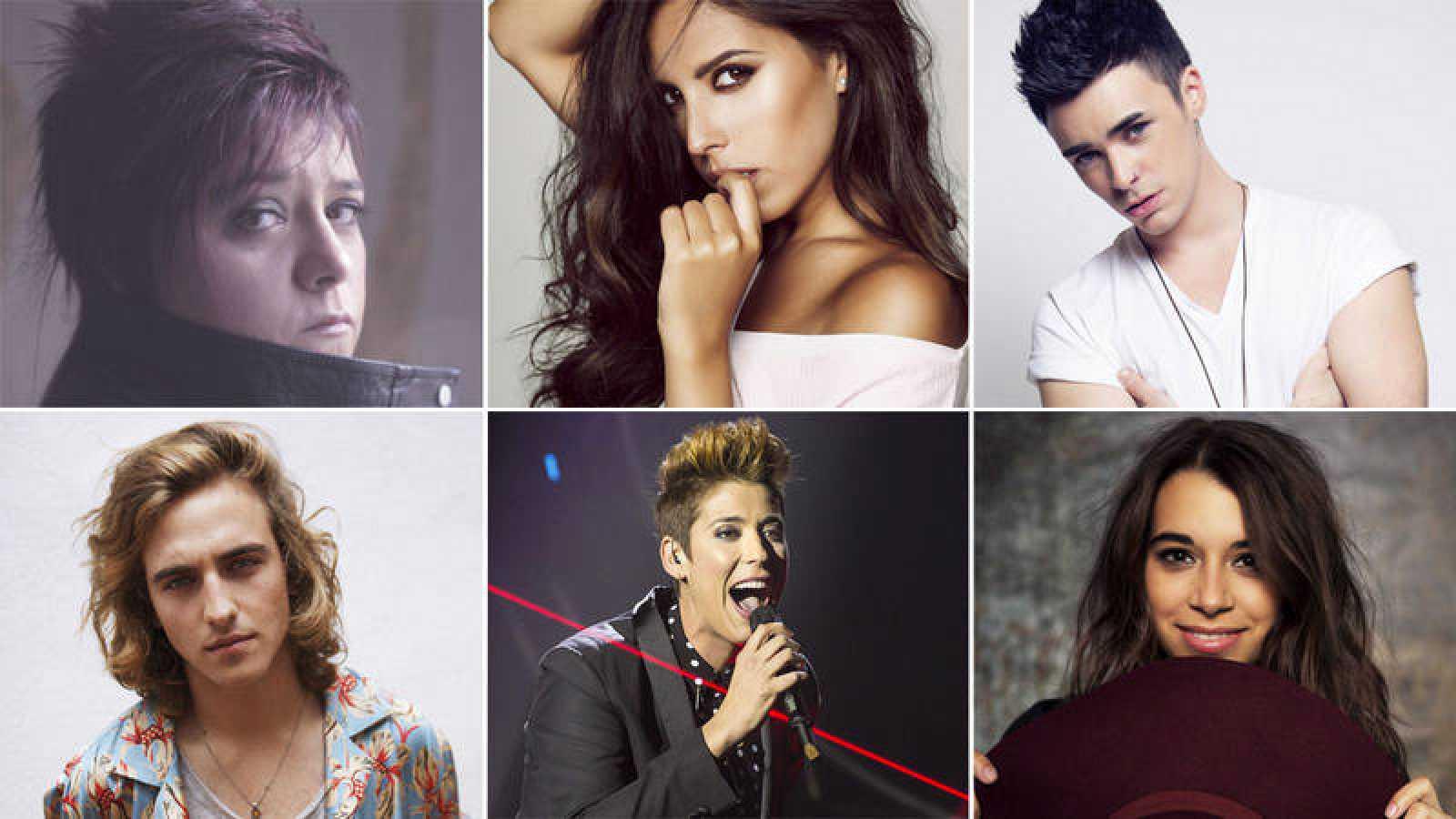 Las seis candidatos de 'Objetivo Eurovisión'