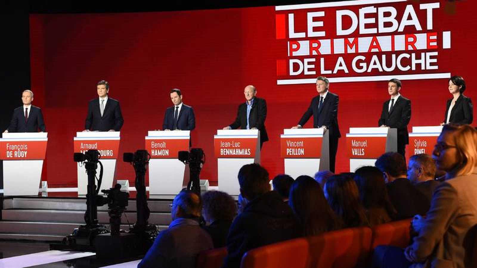 Segundo debate televisivo de los aspirantes en primarias a la candidatura socialista en Francia