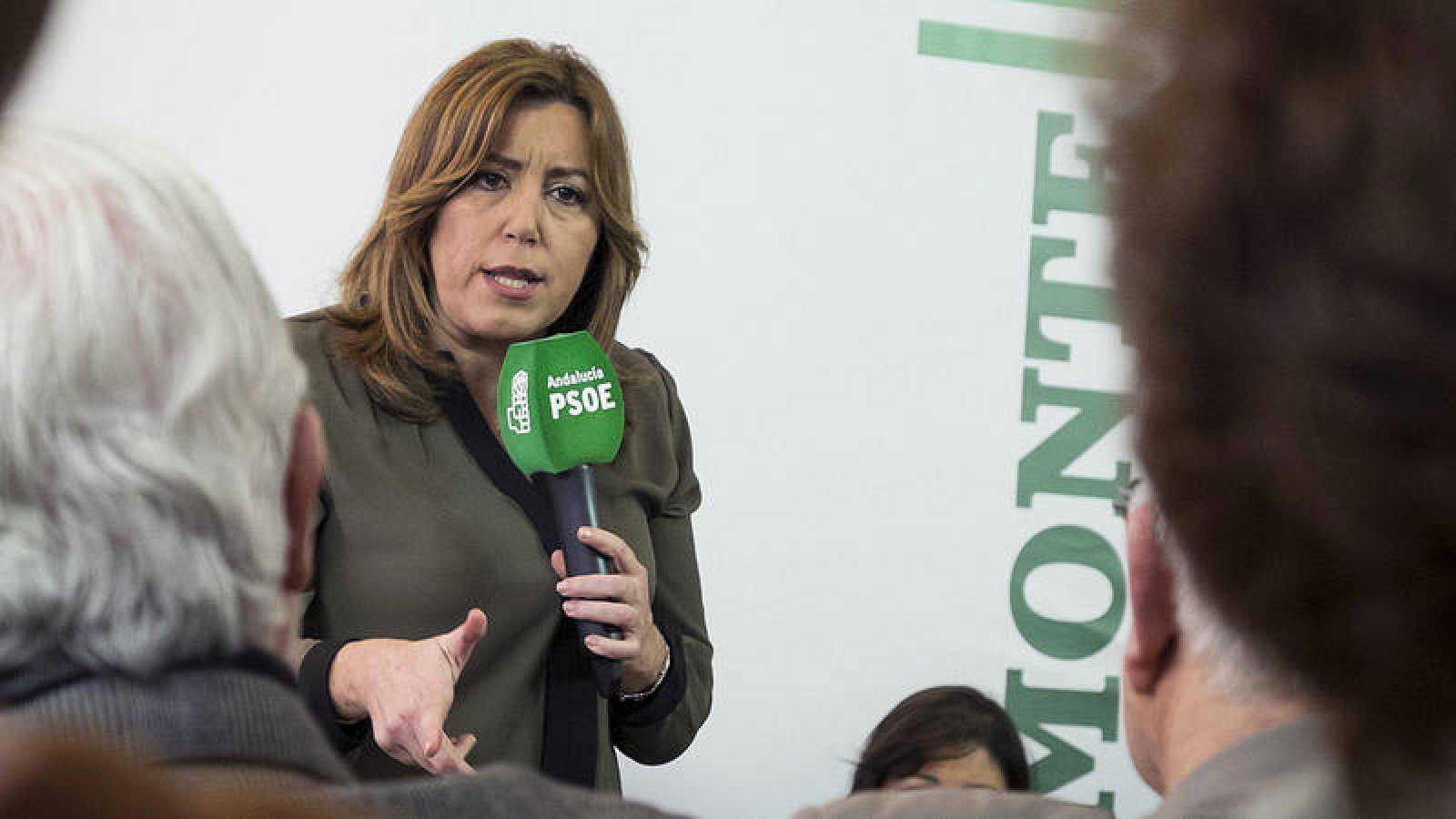 La secretaria general del PSOE de Andalucía y presidenta de la Junta, Susana Díaz