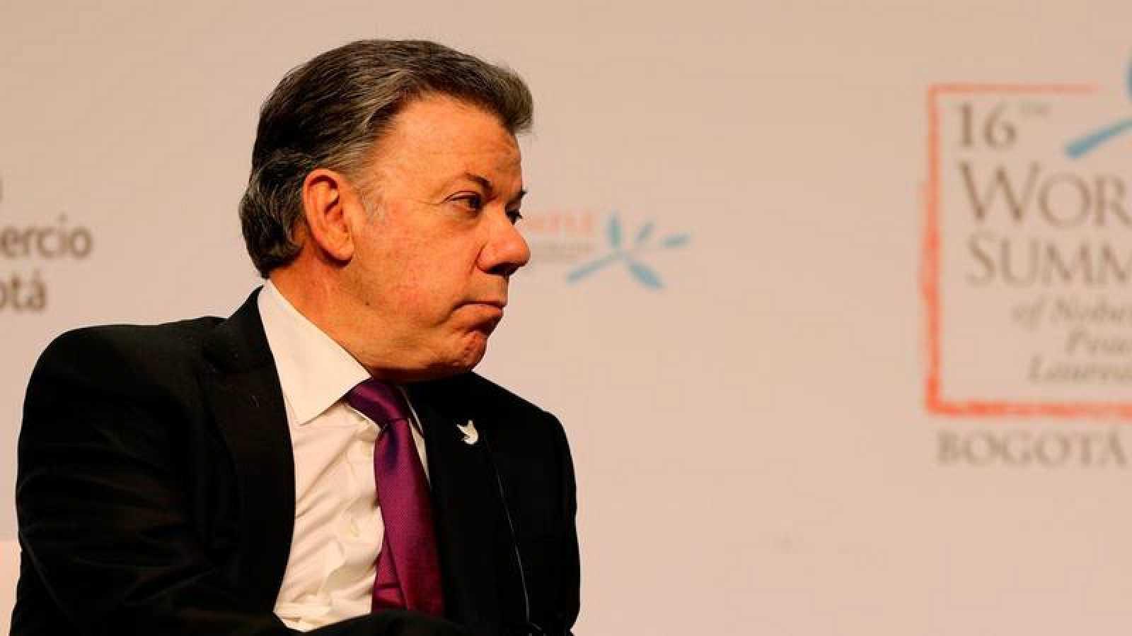 El presidente de Colombia, Juan Manuel Santos, durante un acto reciente
