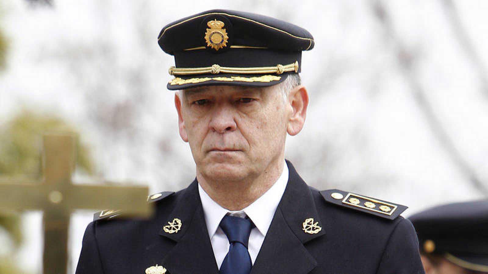El ex director adjunto operativo de la Policía Nacional Eugenio Pino durante el acto de toma de posesión
