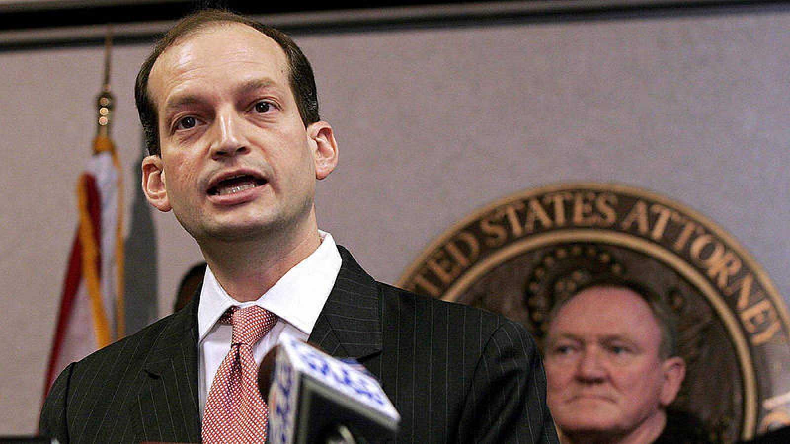 El abogado hispano y ex fiscal general de Miami, Alexander Acosta, nominado por el presidente estadounidense, Donald Trump, para encabezar el Departamento de Trabajo.