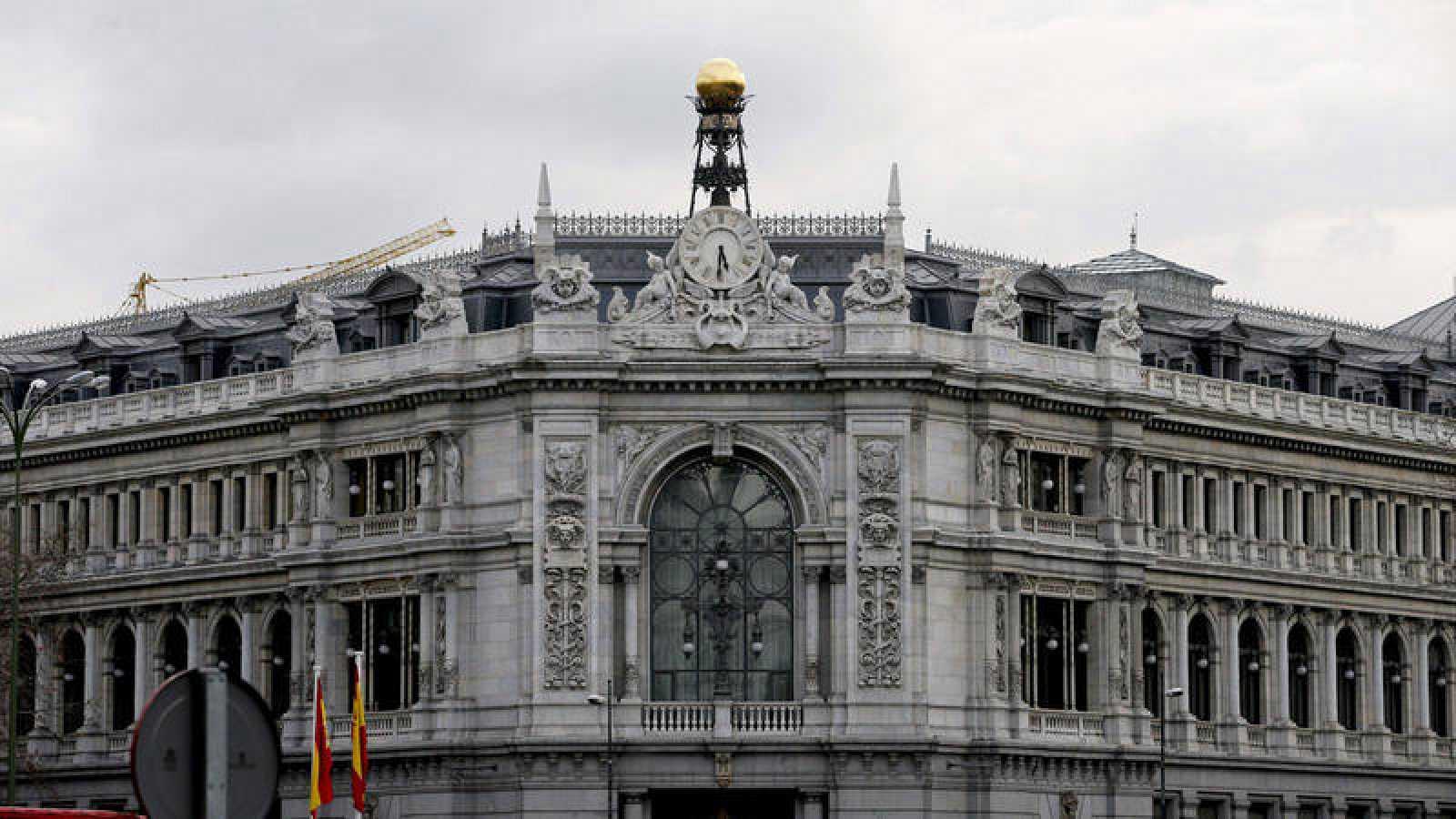 Fachada de la sede central del Banco de España en Madrid.