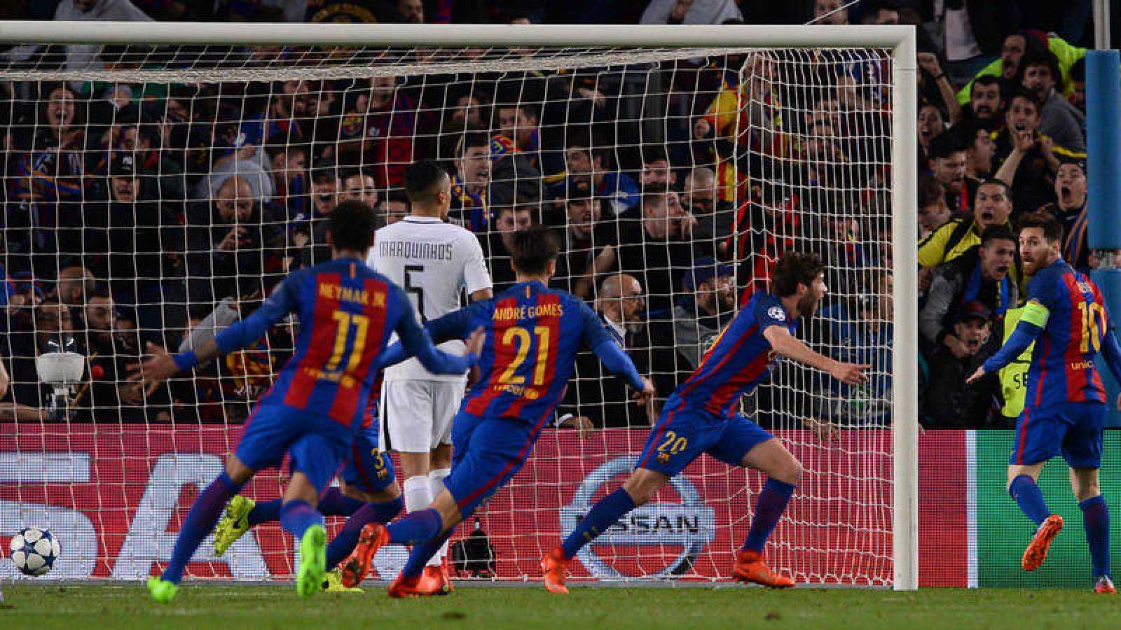 Sergi Roberto culmina la remontada para el Barça y firma el pase a cuartos