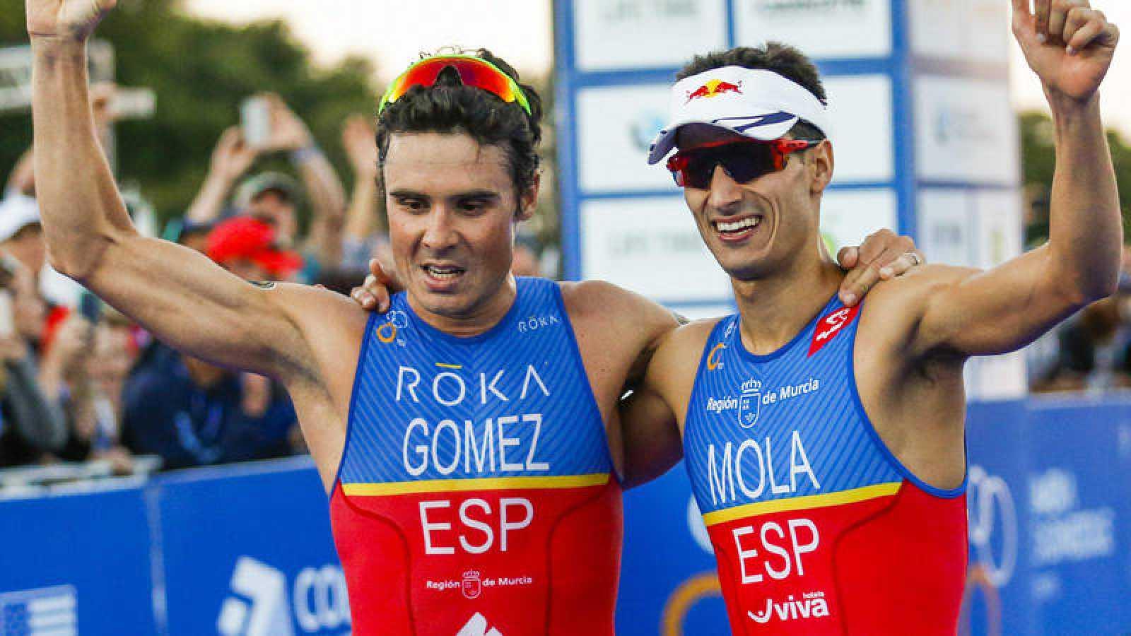 Mario MOla y Javier Gómez Noya, en imagen de archivo