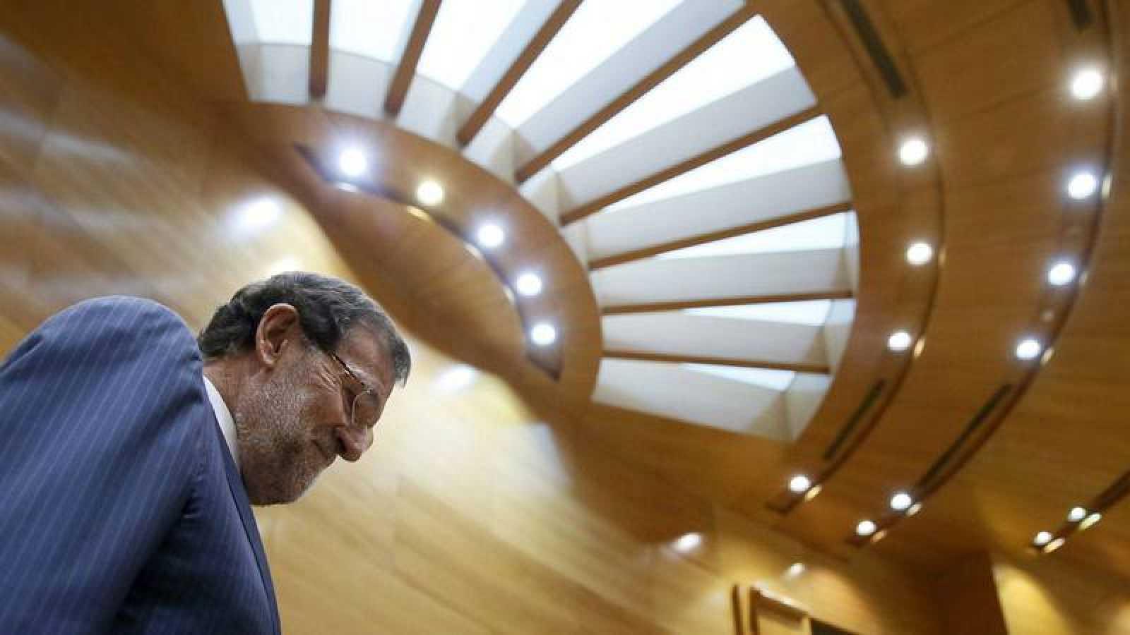 Mariano Rajoy, en un pleno del Senado.