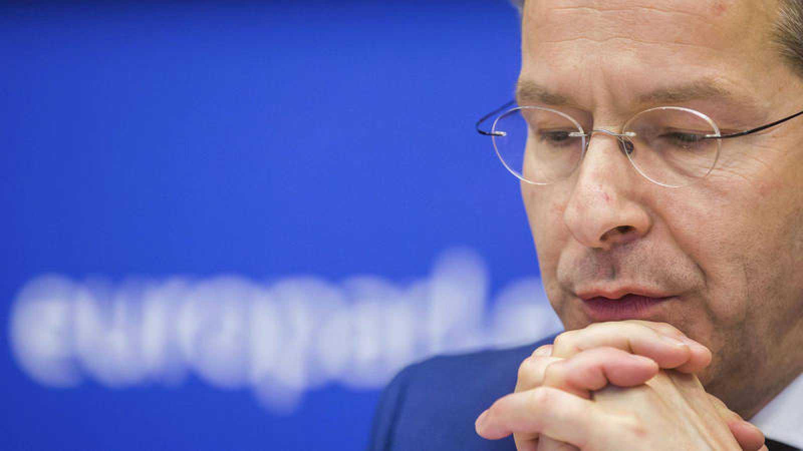 El ministro holandés de Finanzas y presidente del Eurogrupo, Jeroen Dijsselbloem, durante una reunión de los ministros de Economía y Finanzas de la UE en Bruselas (Bélgica).