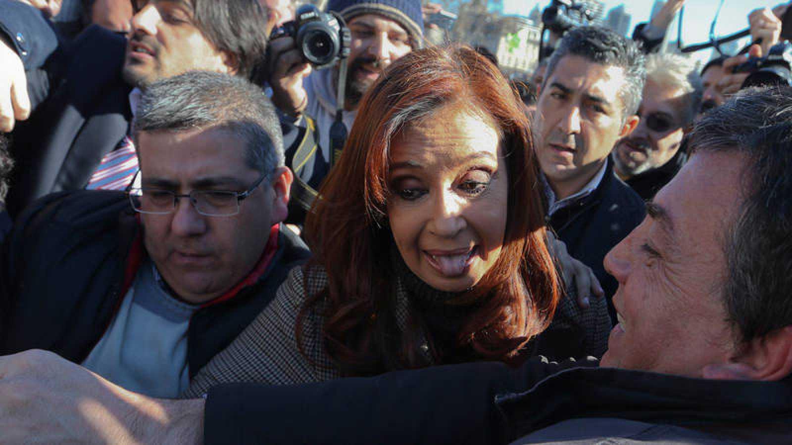 Cristina Fernández de Kirchner a su llegada a un tribunal en Buenos Aires